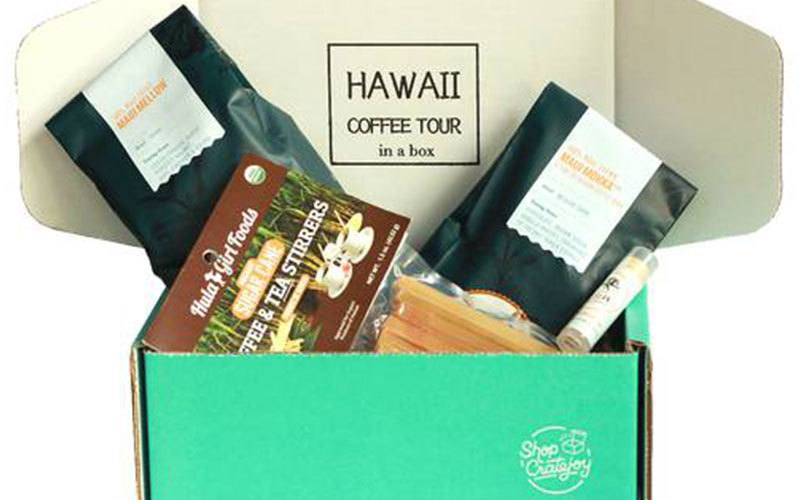 hawaii coffee tour in a box